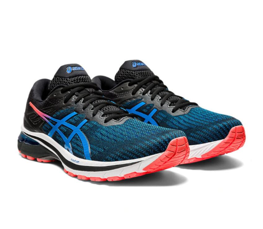coppia scarpa da running per pronatori asics gt 2000 9 blu