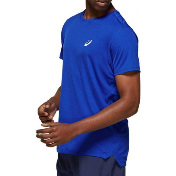 t shirt tecnica asics blu