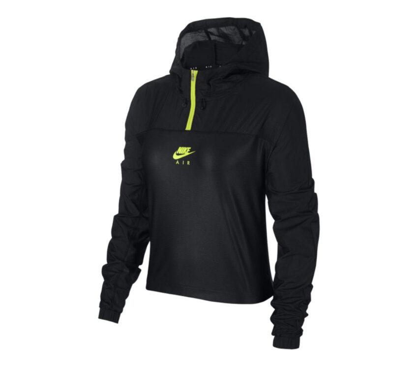 giacca running nike nera con cappuccio