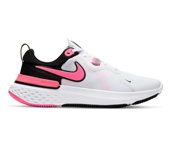 scarpa nike react miler donna rosa e bianco