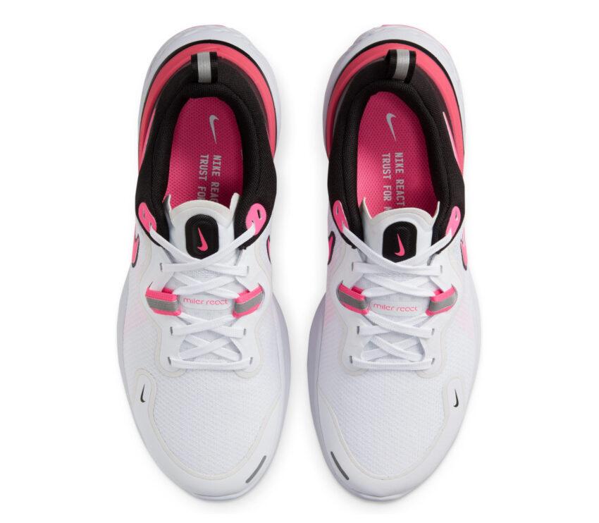 tomaia scarpa nike react miler donna rosa e bianco