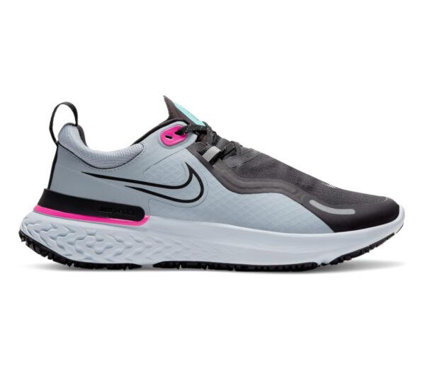 scarpa da running donna nike react miler grigia e rosa