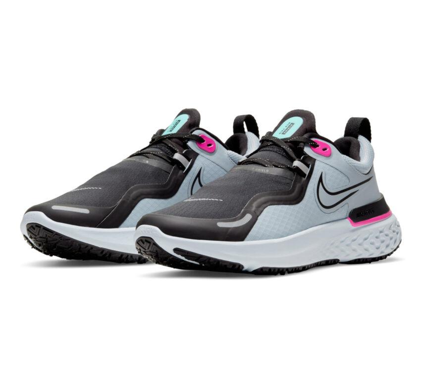 coppia scarpa da running donna nike react miler grigia e rosa