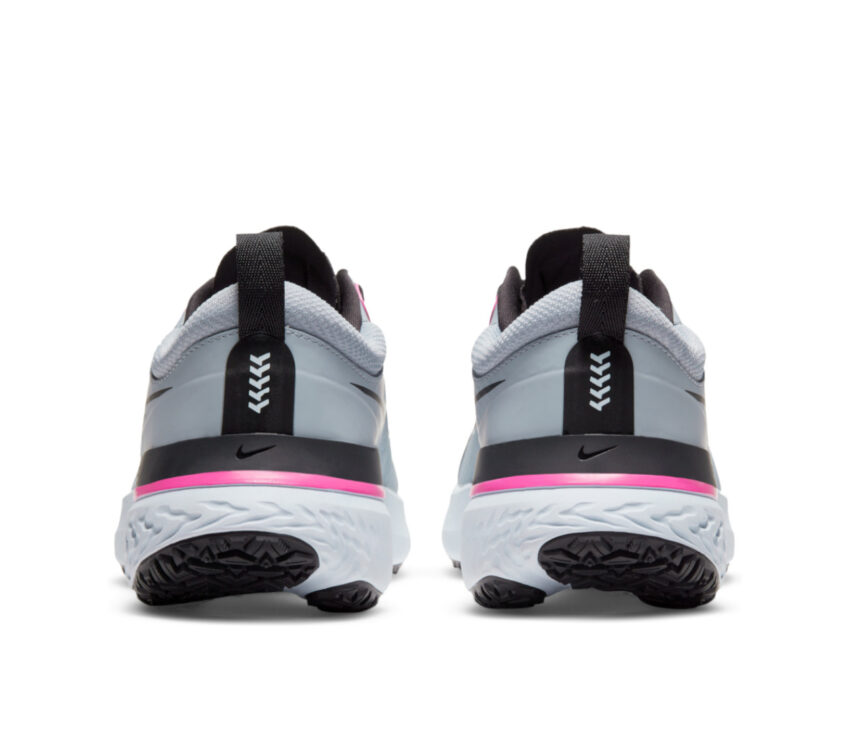 tallone scarpa da running donna nike react miler grigia e rosa