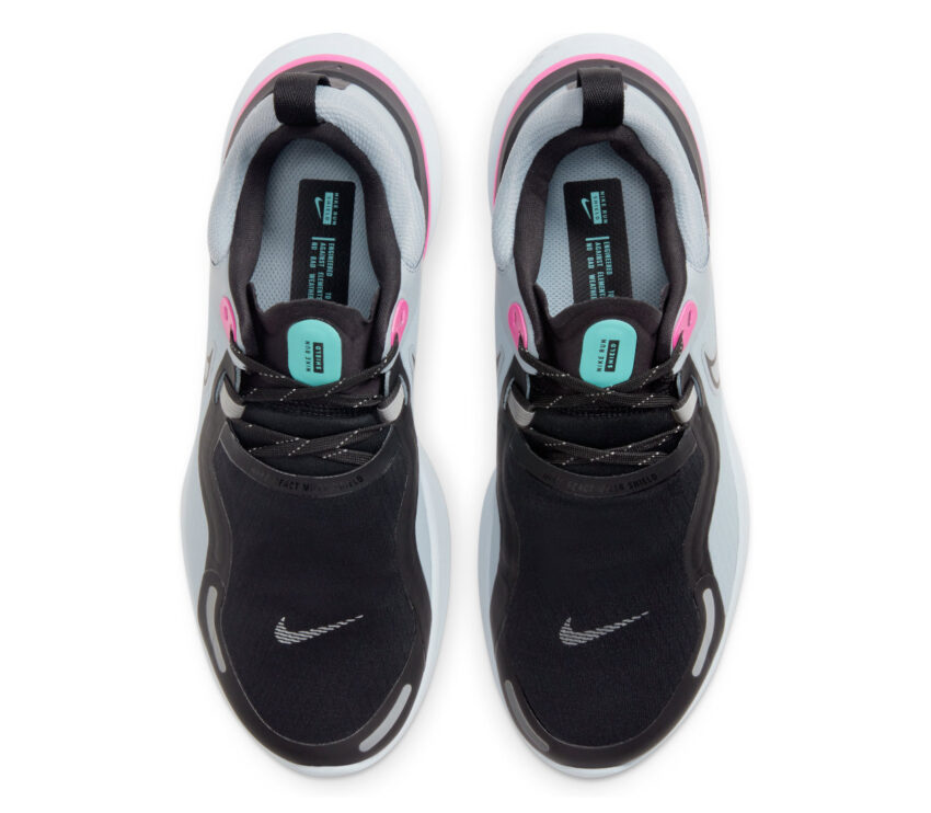 tomaia scarpa da running donna nike react miler grigia e rosa