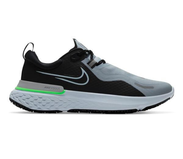 nike react shield uomo scarpa running grigio e verde