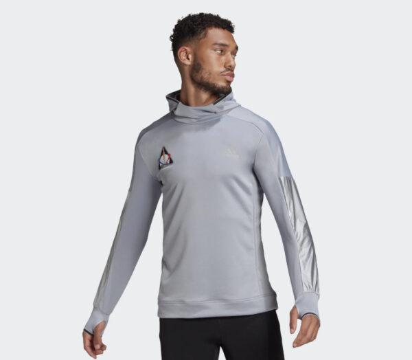 felpa running uomo adidas space hoody grigia