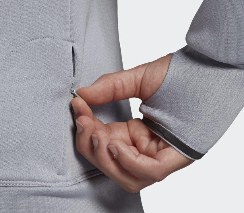 dettagli manica felpa running uomo adidas space hoody grigia