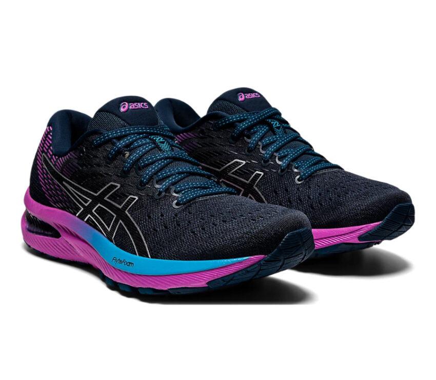 scarpa da running donna asics gel cumulus 22 viola e azzurra