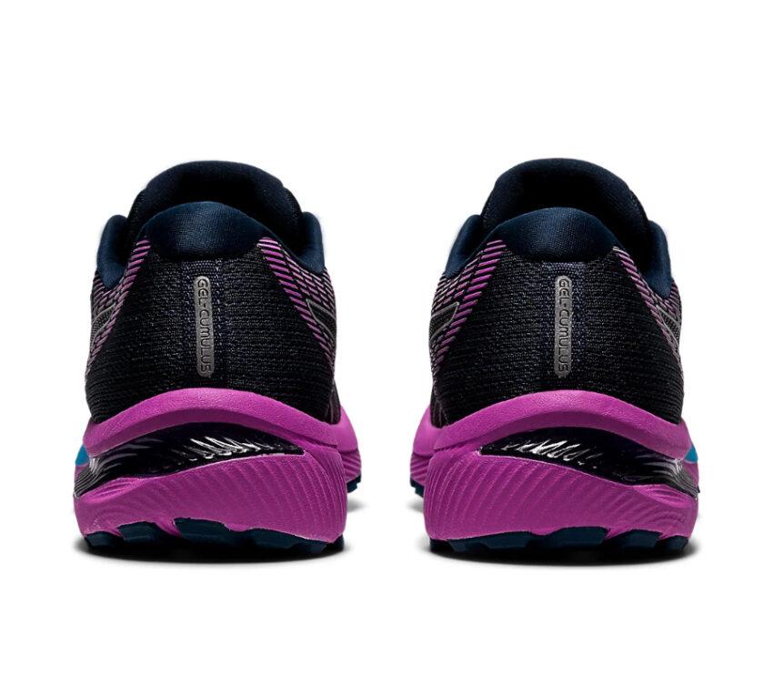 retro scarpa da running donna asics gel cumulus 22 viola e azzurra