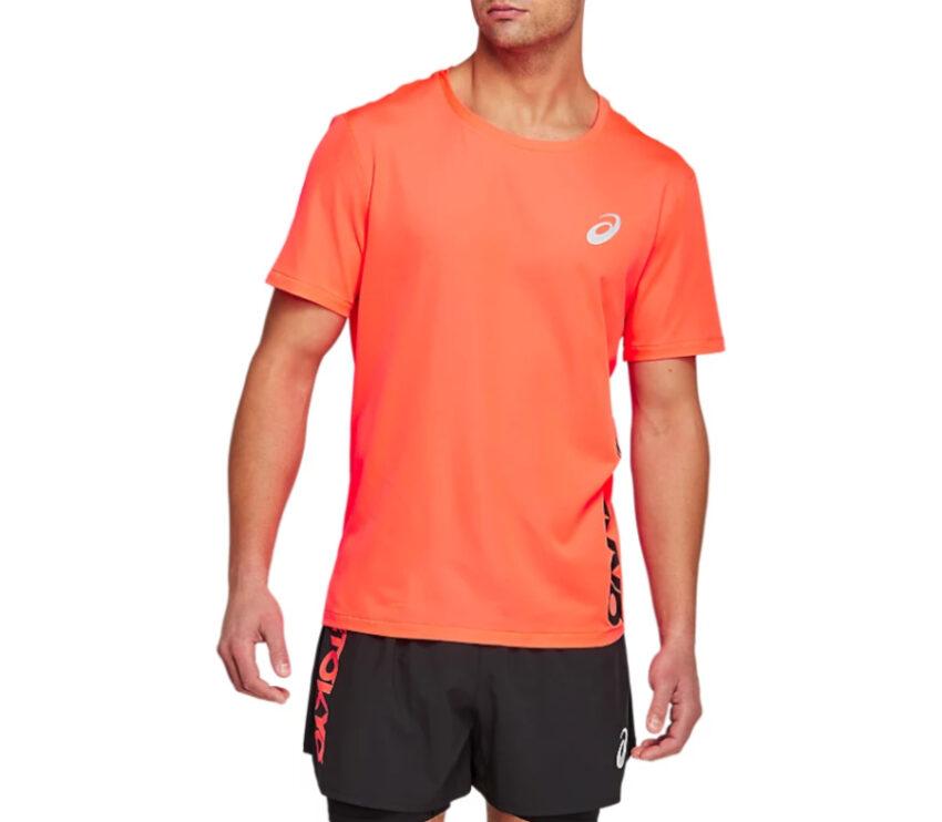 maglia da running asics tokyo arancione uomo