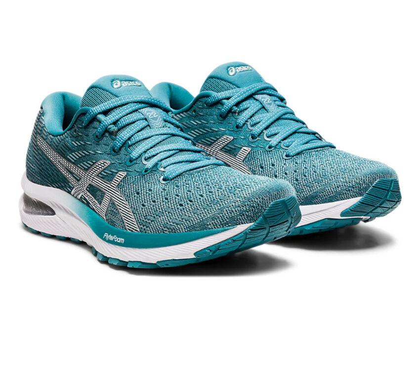 coppia scarpa da running donna asics gel cumulus 22 azzurro