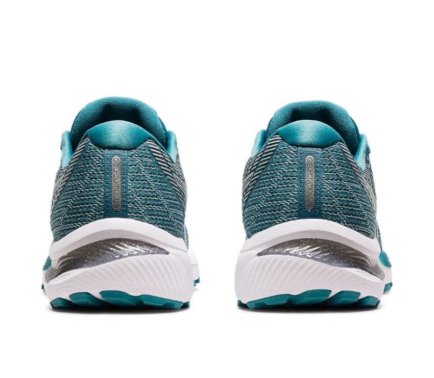 retro tallone scarpa da running donna asics gel cumulus 22 azzurro