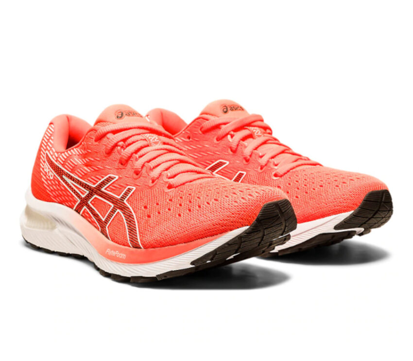 scarpa da running donna asics gel cumulus 22 rossa tokyo