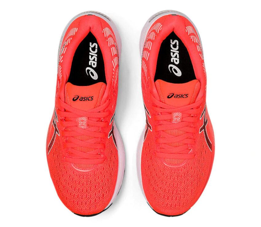 tomaia scarpa da running donna asics gel cumulus 22 rossa tokyo