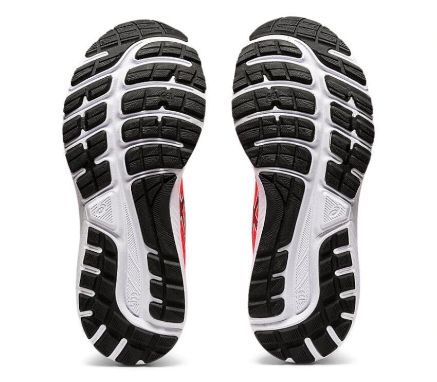 suola scarpa da running donna asics gel cumulus 22 rossa tokyo