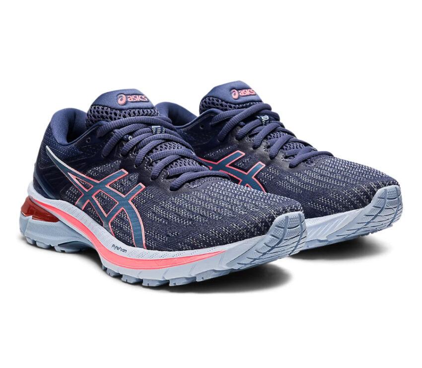 coppia scarpa running donna pronazione asics gt 2000 9 blu