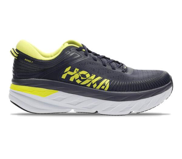scarpe da running hoka bondi 7 uomo nere e gialle