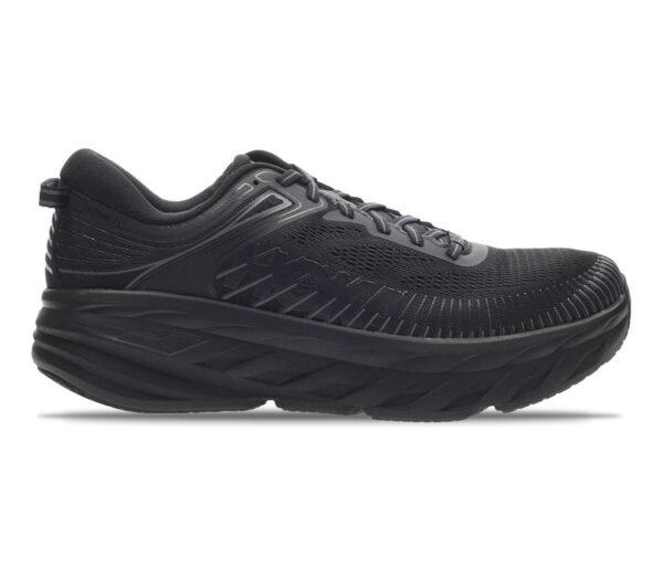 scarpa da donna a pianta larga hoka bondi 7 nera