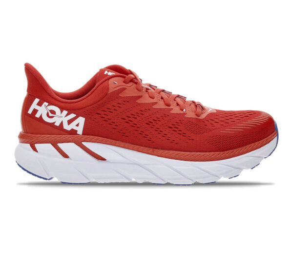scarpe da running hoka clifton 7 rosse uomo