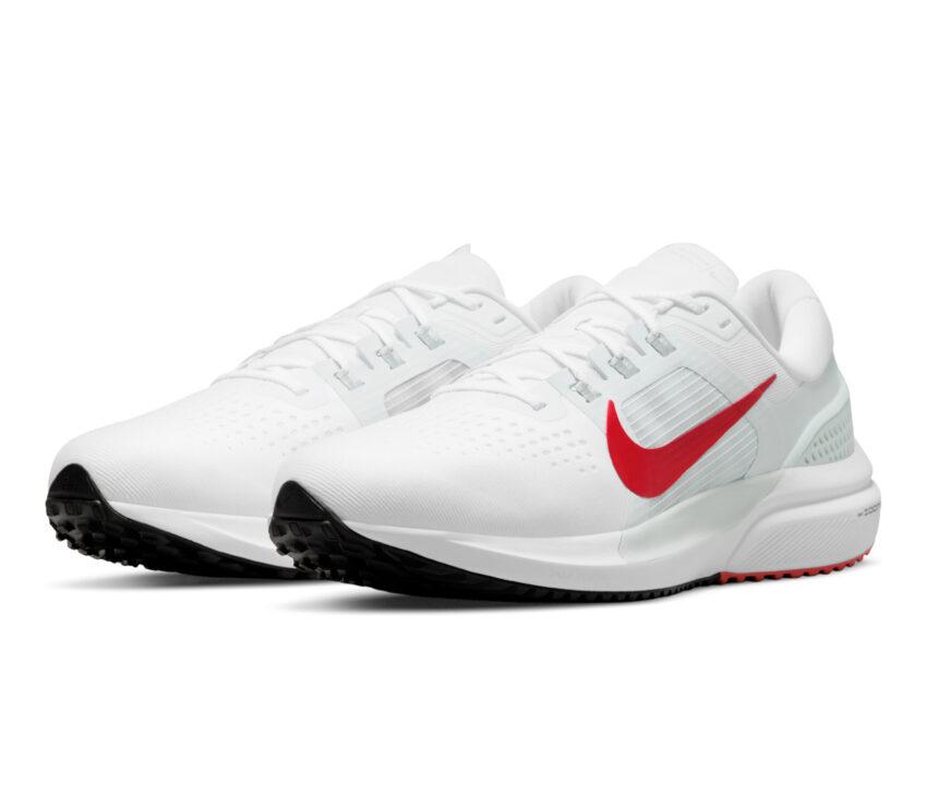 coppia scarpa da running uomo zoom vomero 15 bianca e rossa