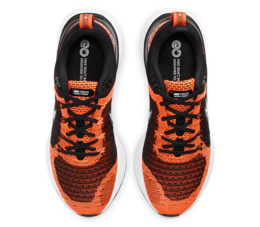 tomaia scarpa running donnaNike React Infinity Run Flyknit 2 arancione