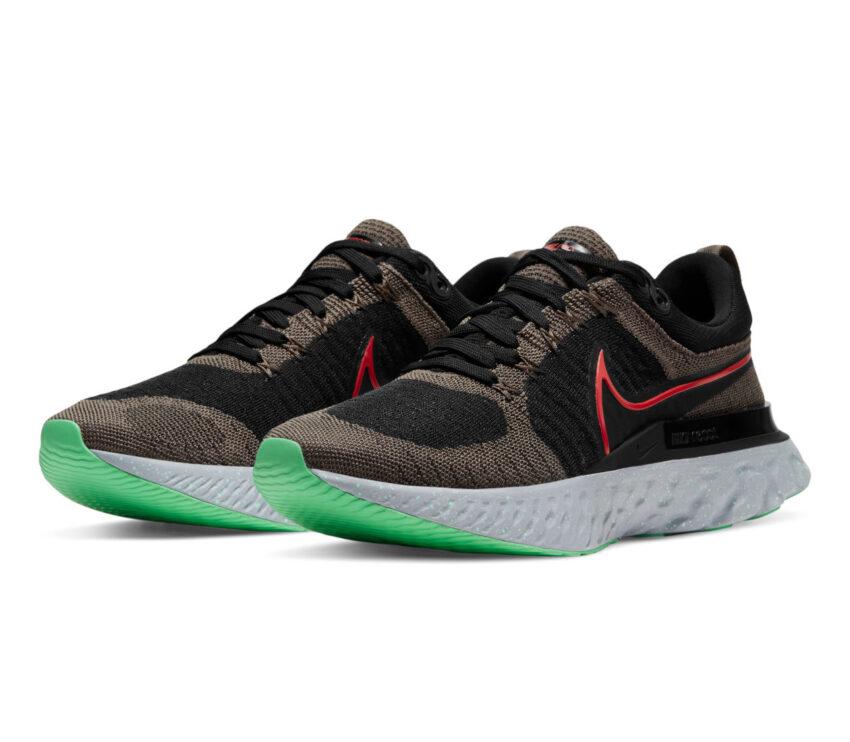 coppia scarpe da running Nike React Infinity Run Flyknit 2 verdi