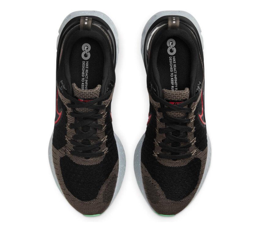 tomaia scarpe da running Nike React Infinity Run Flyknit 2 verdi