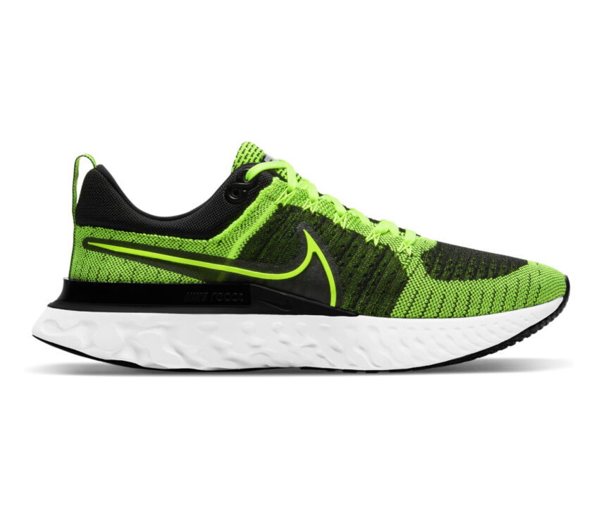 scarpe da running Nike React Infinity Run Flyknit 2 verdi fluo