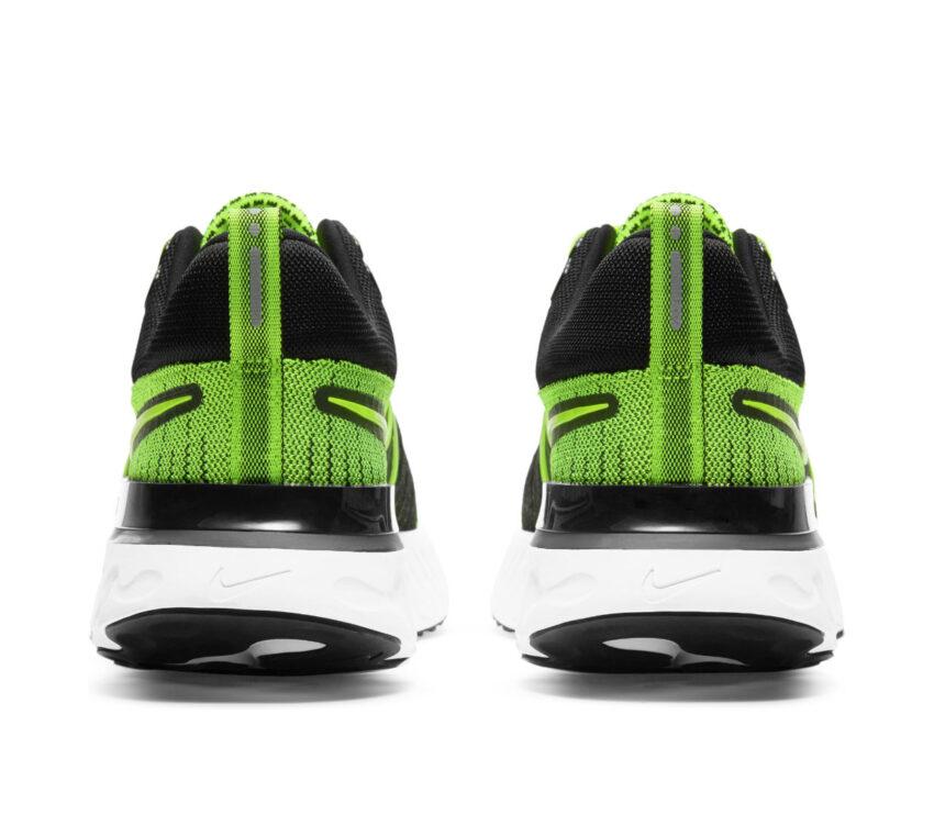 tallone scarpe da running Nike React Infinity Run Flyknit 2 verdi fluo
