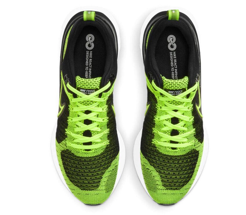 tomaia scarpe da running Nike React Infinity Run Flyknit 2 verdi fluo