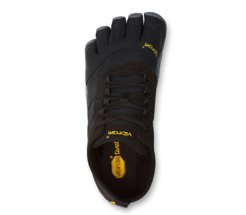 scarpa running uomo nera vibram fivefingers v trek vista da sopra