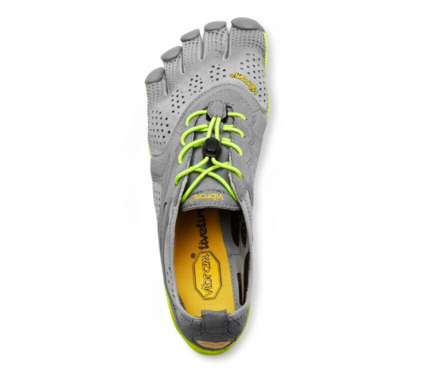 tomaia scarpe running barefoot uomo vibram fivefingers vrun grigie