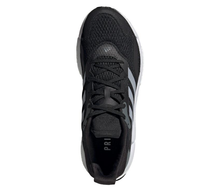 scarpa running adidas solar boost 3 nera da uomo vista da sopra