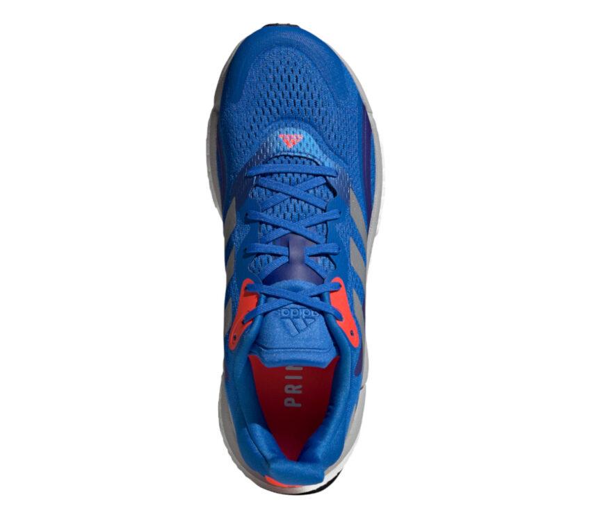scarpa running uomo blu adidas solar boost 3 vista da sopra