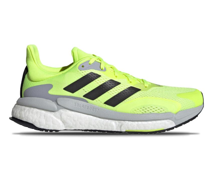 scarpa running uomo adidas solar boost 3 gialla, grigia e nera