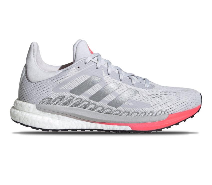 scarpa da running donna adidas solar glide 3 bianca e rosa