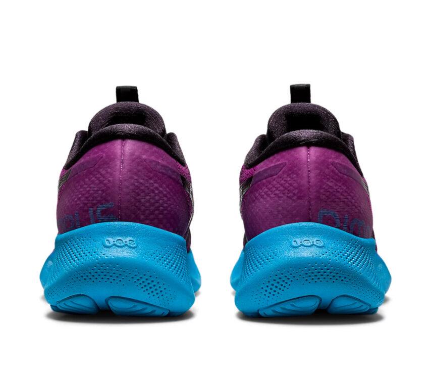 retro scarpe asics gel nimbus lite 2 donna blu, nere e viola