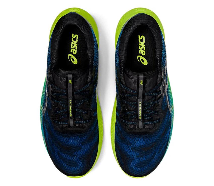tomaia asics gel nimbus lite 2 blu scarpa running uomo