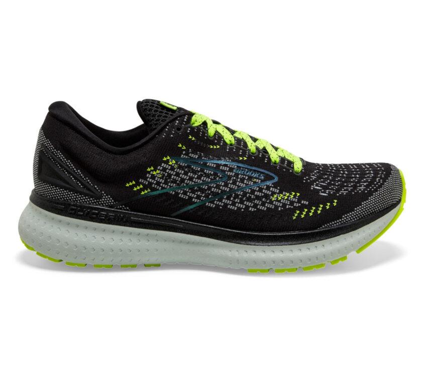 scarpa running neutra ammortizzata donna brooks glycerin 19 nera e fluo