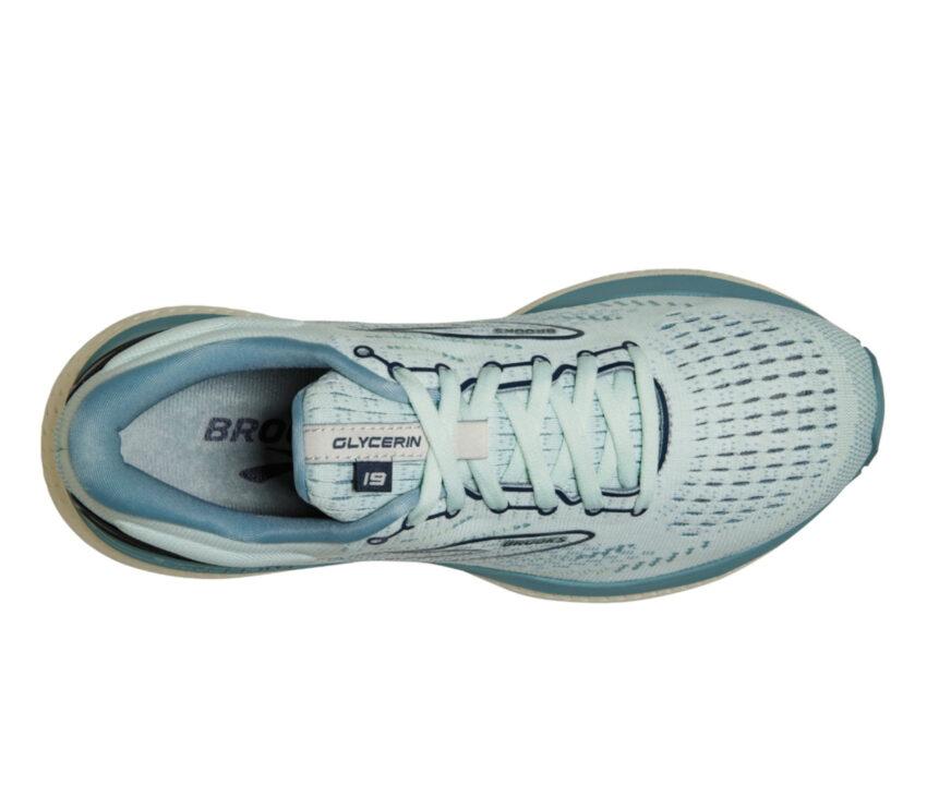 tomaia scarpa da running brooks glycerin 19 donna azzurra