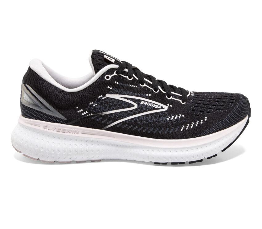 scarpa brooks glycerin 19 donna da running nera e rosa