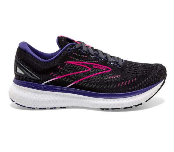 scarpa running donna brooks glycerin 19 nera e viola