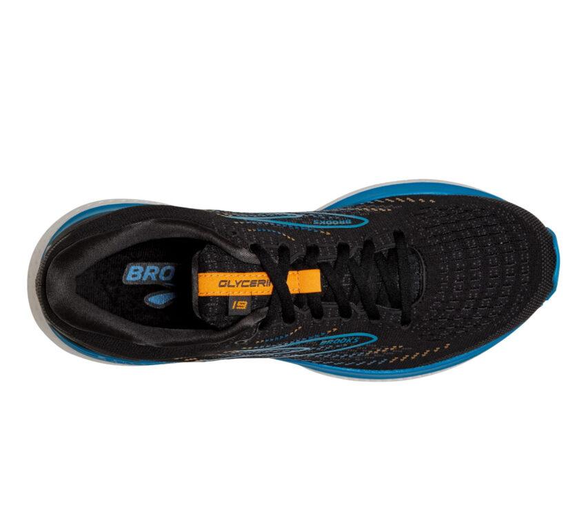 tomaia scarpa da running brooks glycerin 19 blu