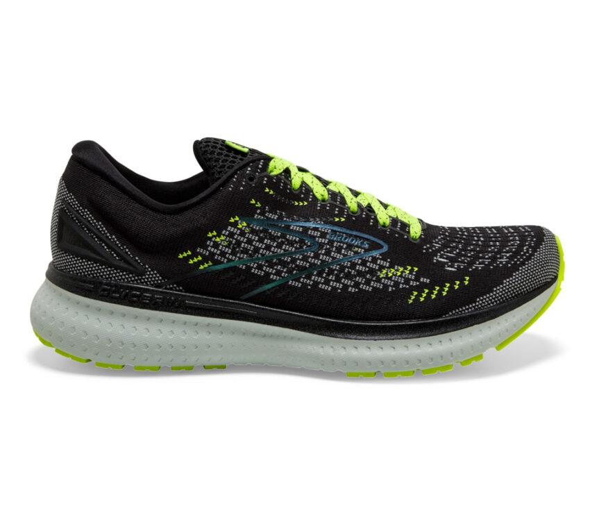 scarpa running neutra ammortizzata uomo brooks glycerin 19 nera e fluo