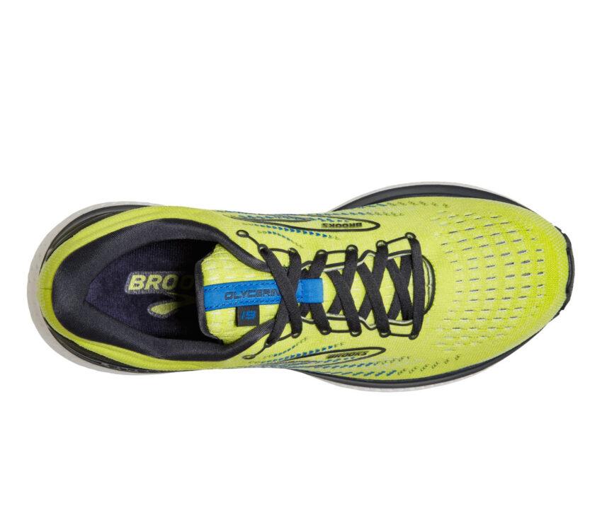 tomaia scarpa da running uomo brooks glycerin 19 fluo