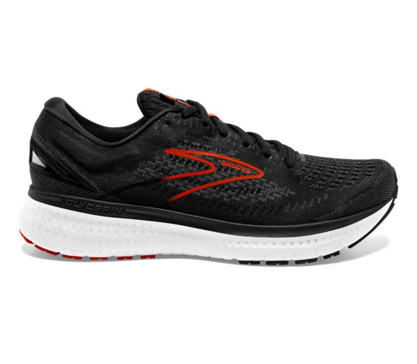 scarpa running da uomo nera brooks glycerin 19