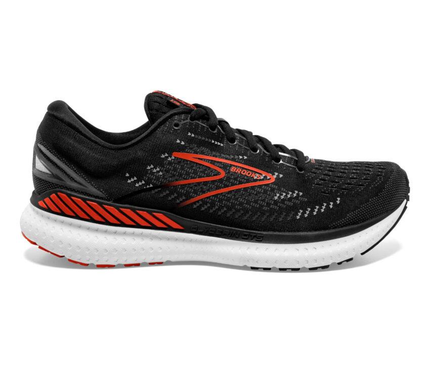 scarpe da running uomo brooks glycerin gts 19 rosso e nera