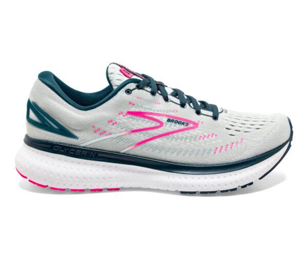 scarpa da running stabile da donna brooks glycerin gts 19 grigio rosa