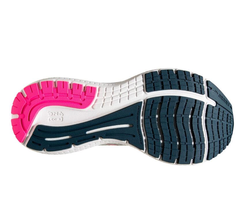 suola scarpa da running stabile da donna brooks glycerin gts 19 grigio rosa